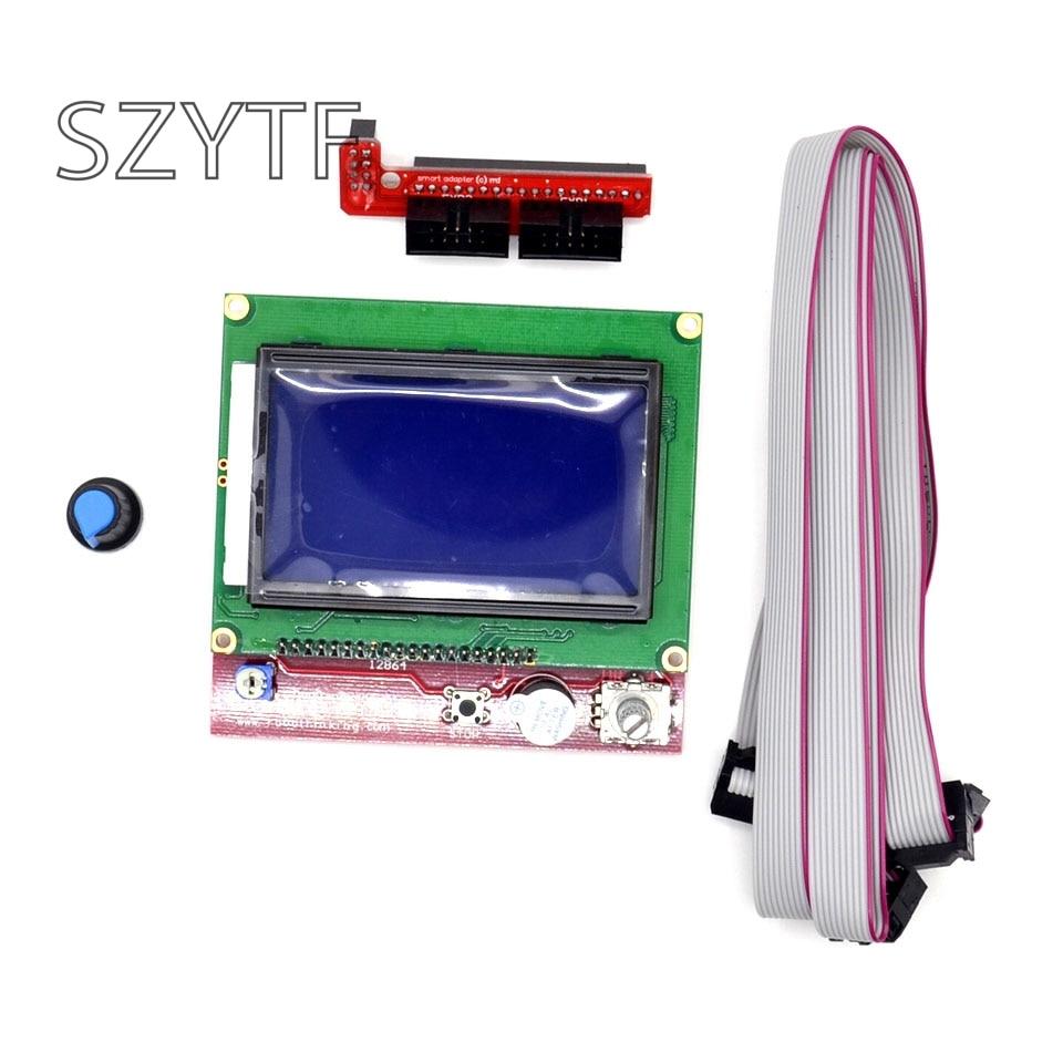 Smart Parts RAMPS 1.4 Painel de Controle do Controlador LCD 12864 Exibição Motherboard Monitor de Módulo de Tela Azul