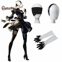 Game NieR Automata 2B YoRHa No 2 Hairband Gloves Goggles Adult Women Halloween Carnival Cosplay Accessories