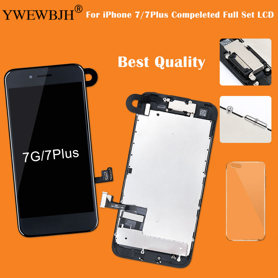 Grade AAA for iPhone 7 7Plus LCD Display Complete Screen Replacement Full Assembly with Front Camera+Earpiece+Sensor Flex