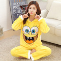 New Arrival Autumn Winter Hooded Thickened Women's Pajamas Sets Flannel Warm Home Furnishing Lounge Sleepwear Homewear Suit