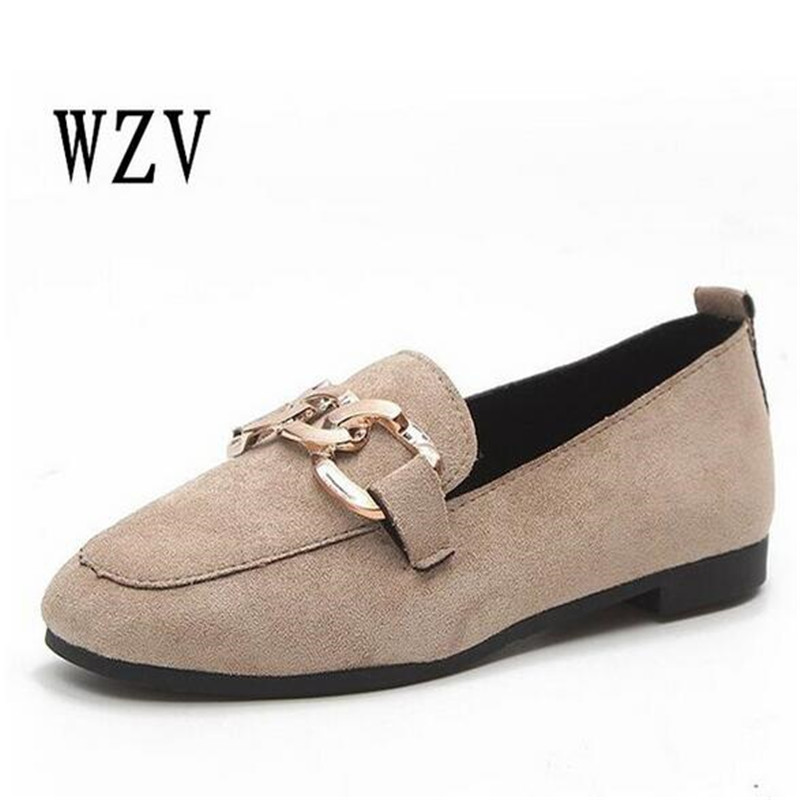 2018 Women Fashion Spring Ladies Round Toe Flat Ballet Flock Shallow Shoes Loafers Slip On Casual Shoes B71 new 2017 spring summer women shoes pointed toe high quality brand fashion womens flats ladies plus size 41 sweet flock t179