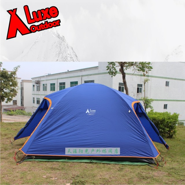 Luxe safari 4 outdoor c&ing tent! Double layer two rooms party tent! Aluminum rod & Luxe safari 4 outdoor camping tent! Double layer two rooms party ...