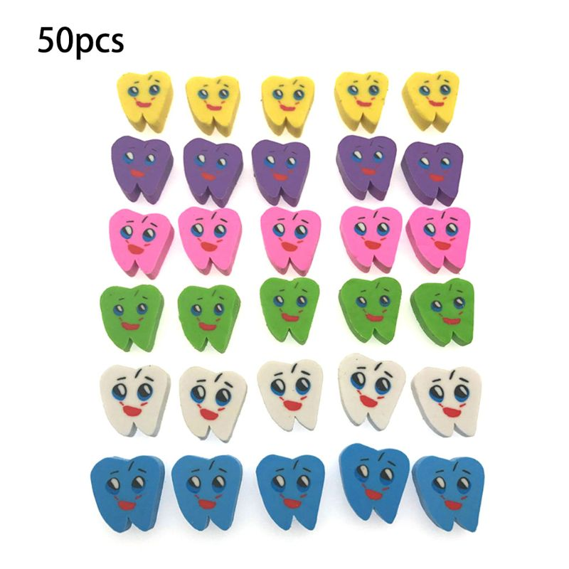 50pcs Molar Shaped Tooth Rubber Erasers Dentist Dental Clinic School Great GiftWholesale Dropshipping