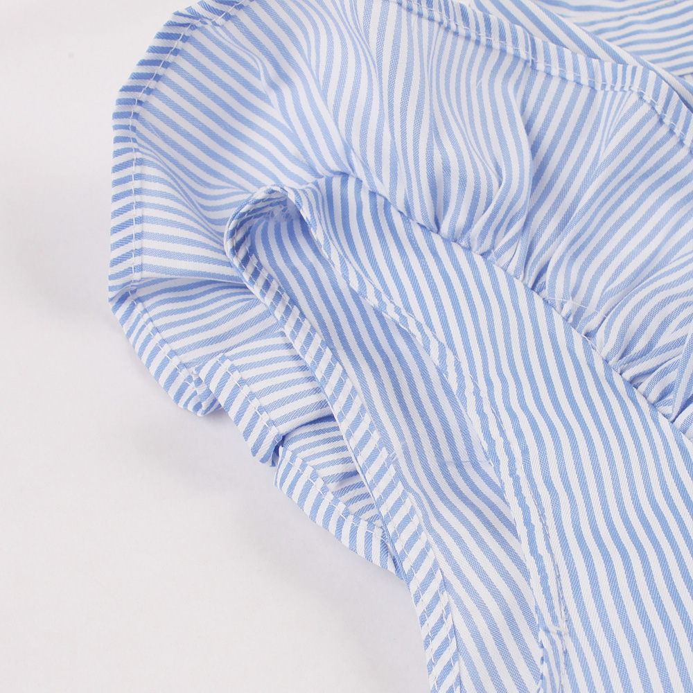 ... Kenancy 1960s Audrey Hepburn Swing Rockabilly Vintage Dress Plus Size  Blue Stripe Print Ruffles Retro Dress ... 7da041d36e7c