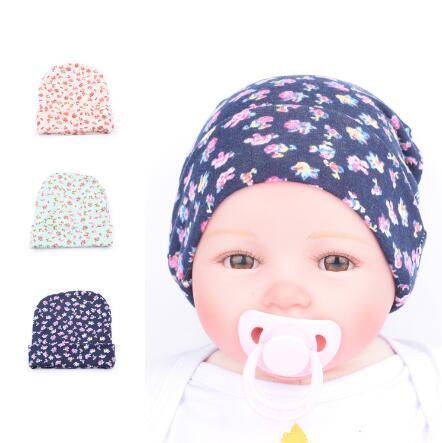 5pcs/lot Baby Flower accessories Girl Toddler Infant Children Cotton Floral Hat Cap Newborn Hats Baby Beanies Cap Hospital Hat