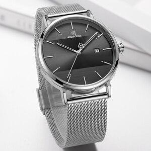 Image 3 - Men Watch Top Brand NAVIFORCE Stainless Steel Mesh Quartz Men's Watches Waterproof Date Business Wristwatch Relogio Masculino