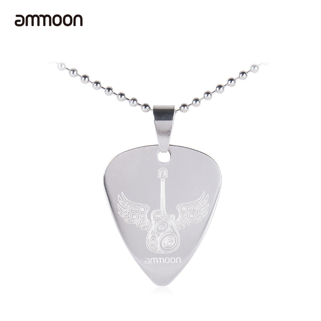 when jewelry letter necklace collier products large femme words stamped great music hot speaks hand gifts pick guitar silver fail