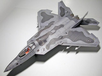 1:33 American F 22 Raptor Fighter Paper Model Aircraft Paper Model Manual DIY Aircraft Military Collectible Gift Educational Toy