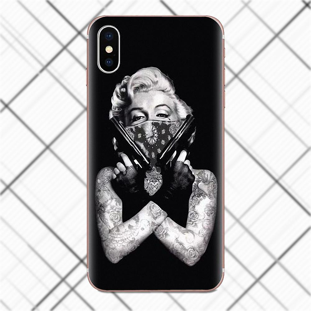 sexy marilyn monroe with a cat and friend lovely soft tpu phone Apple iPhone 6 payment