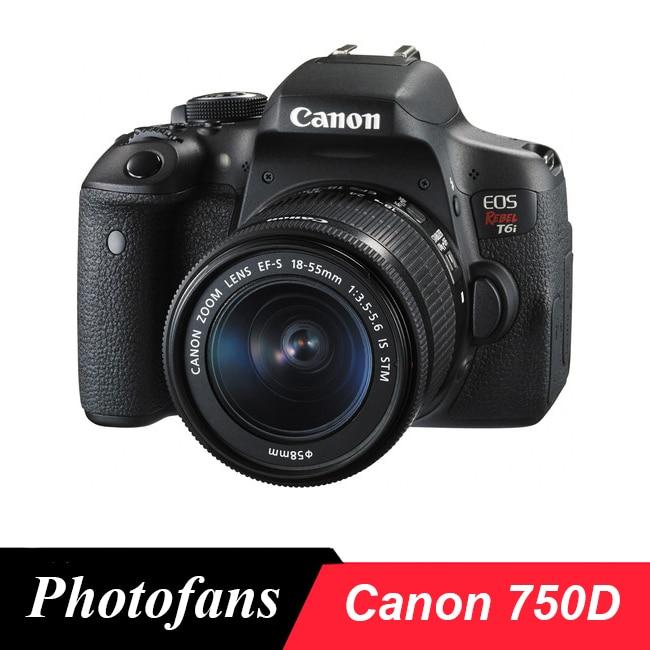Canon 750D/Rebel t6i DSLR Камера-24.2 Мп-3.0 с переменным углом сенсорный экран-Full HD 1080 P-Wi-Fi