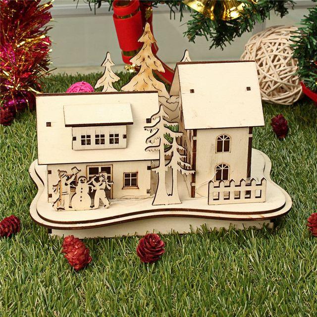 Modernes Design Nette Weihnachten Fuhrte Licht Holz Dekoration Haus