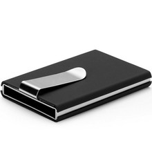 Rfid Blocking Aluminium Slim ID Card Wallet for Men Metal Credit Card Holder Hiqh Quality Automatic Business Card Case With Clip
