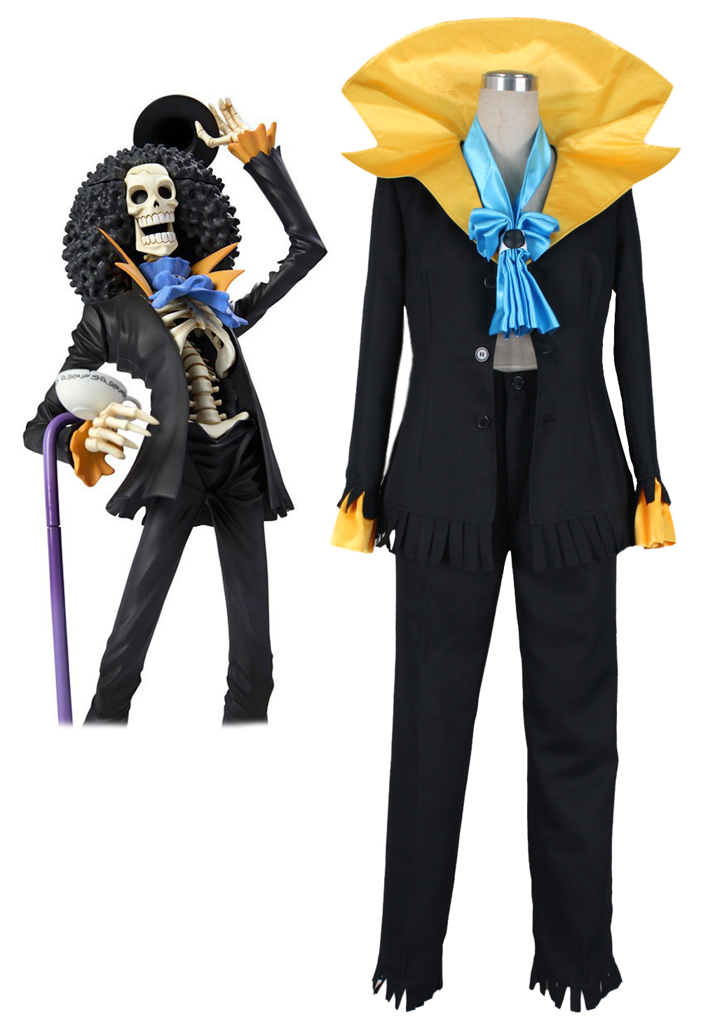 Anime One Piece Brook Cosplay Costume