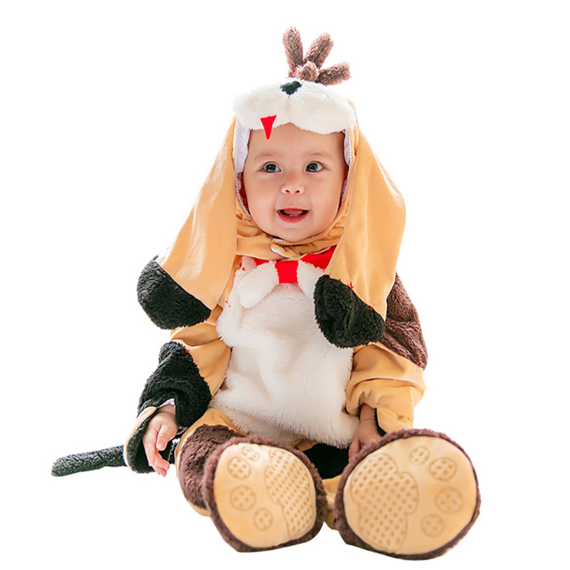 Baby Toddler Dog Animal Costume For Holiday Halloween Purim Festival Cosplay Clothing