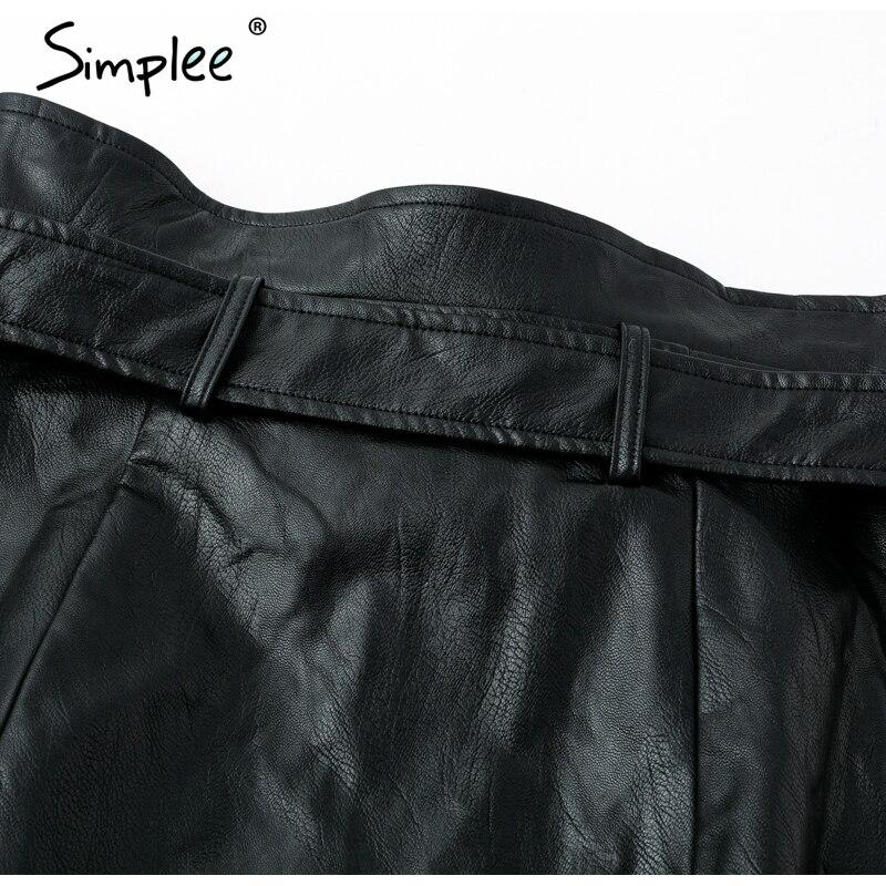 今週の割引 SIMPLEE サッシジッパースカートセクシーな黒の Swedish 16