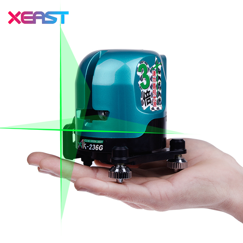 XEAST 2 Lines 1 Point  Mini Red Or Green Laser Level Horizontal/Vertical Line Measuring Instrument Cross Laser laser cast line instrument marking device 5 lines the laser level