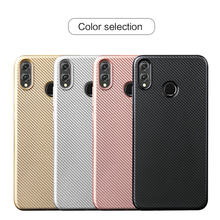 For Huawei Honor 8X /View 10 Lite/Honor 7 Case Slim Carbon Fiber Texture TPU Silicone Shell Soft Flexible Phone Case Back Cover(China)