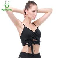 Fitness Yoga Push Up Sportbeha voor Womens Gym Running Padded Tank Top Athletic Vest Ondergoed Shockproof Strappy Sport Beha Top