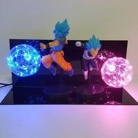 Dragon Ball Super Lamp Goku Vegeta Kamehameha Galick GUN Lamparas Dragon Ball Z Goku Super Saiyan DBZ Led Night Lights Desk lamp