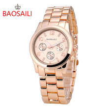 BAOSAILI Rose Gold Stainless Steel Women Watches Fashion Casual Dress Ladies Wrist Watch Luxury Brand Relogio Feminino Hodinky