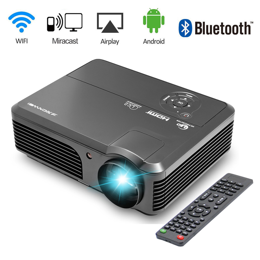 цена на 4200lm LED TV Movie Home Projector Android Bluetooth Wifi Private Cinema Theater Video Multimedia Beamer LCD HD 1080P hdmi
