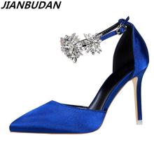 Luxury high-heeled Rhinestones sandals brand fashion ladies high heels pump elegant high-quality professional sandal