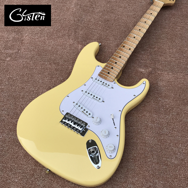New style high quality custom ST electric guitar, Maple grooves fingerboard Big head ST electric guitar, free shipping