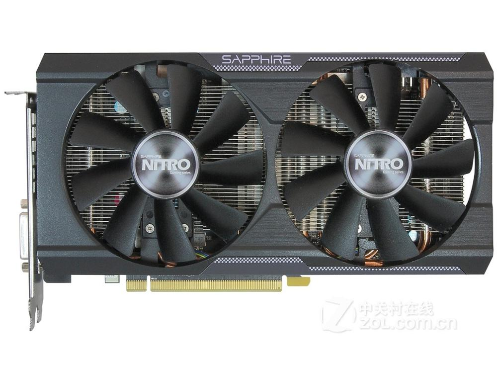 Used Sapphire R9 380 4G GDDR5 HDMI DVI  DisplayPort Game Graphics Card Gaming