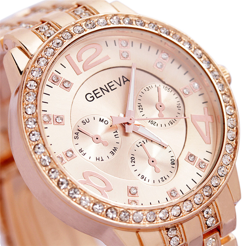2017 Luxury Geneva Brand fashion gold casual watch women ladies men Crystal dress diamond quartz wrist watch Relogio Feminino silver diamond women watches luxury brand ladies dress watch fashion casual quartz wristwatch relogio feminino