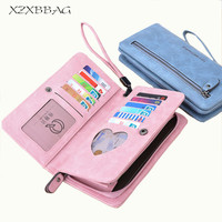 XZXBBAG Fashion 2 Fold Long Wallet Women Zipper Hasp Card Holders Clutch Money Bag Ladies Female