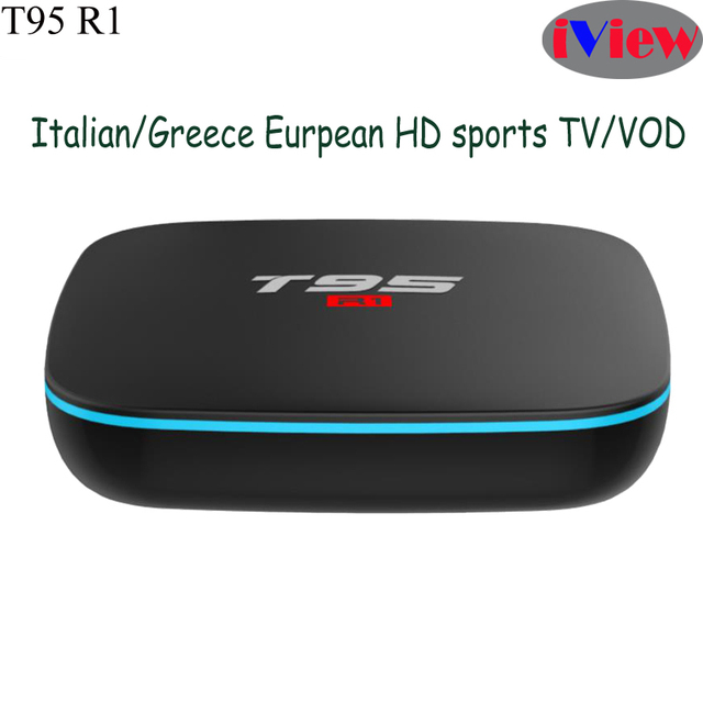 US $46 84 |T95R1 S905W Smart Android7 1 TV Box With IviewHD Greek Turkish  Arabic TV Channels Italian USA Germany italy Greece UK IPTV EPG-in Set-top