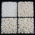 4mm-20mm straight holes white ivory round imitation plastic pearl beads for jewelry accessories Beads & Jewelry Making