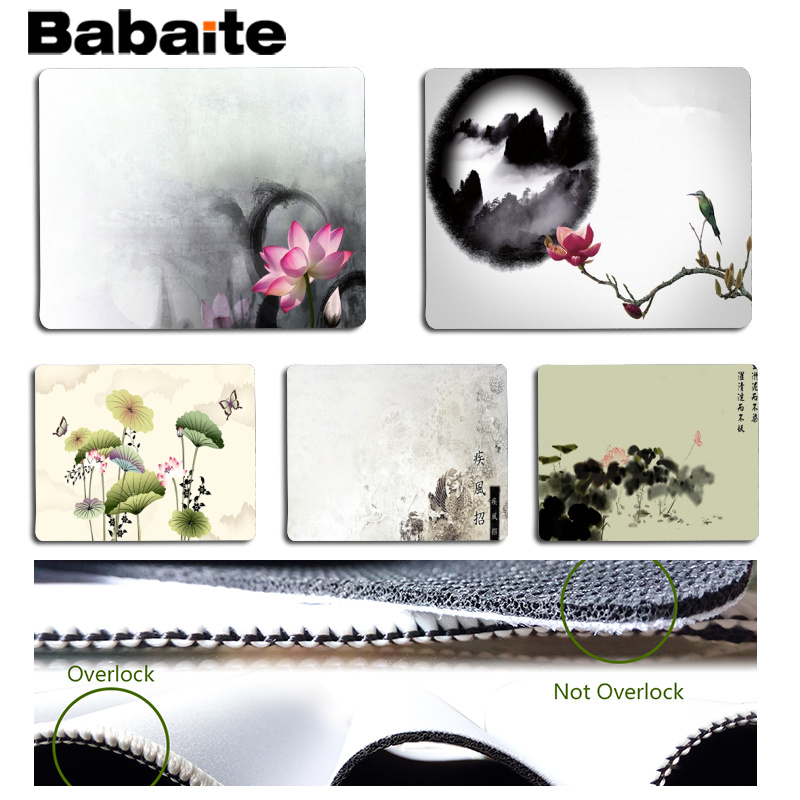 Babaite Non Slip PC Chinese style Customized laptop Gaming mouse pad Size for 18x22cm 25x29cm Rubber Mousemats
