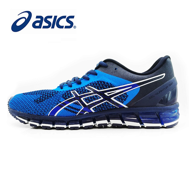 buy online 7ffd9 a9582 US $95.74 32% OFF|Original ASICS GEL QUANTUM 360 KNIT Men's Stability  Running Shoes ASICS Sports Sneakers Outdoor Breathable Comfortable T728N-in  ...