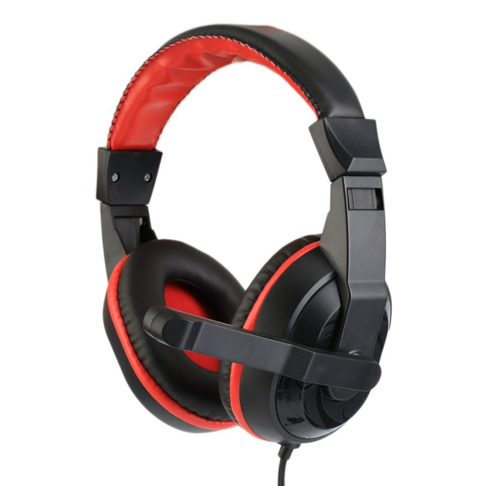 NEW 3.5mm Adjustable Gaming Headphones Stereo Type Noise-canceling Computer PC Gamers Headset With Microphones Earphone