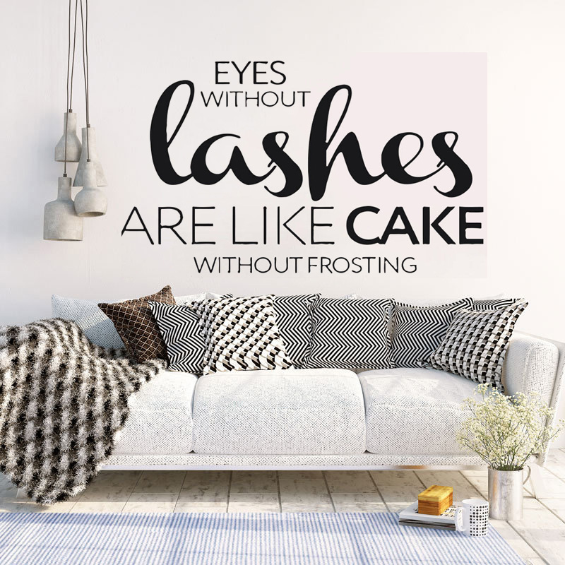 YOYOYU Beauty Salon Vinyl Wall Sticker Eyelashes Quotes Remove Decal Livingroom Bedroom Home Decoration Art Poster ZX451