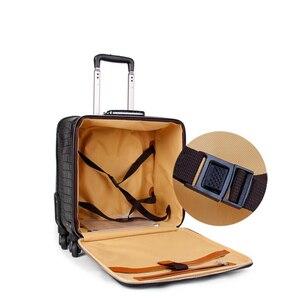 """Image 2 - حقيبة سفر يدوية من كاريلوف 16 """"20"""" للرجال نمط تمساح أصلي حقيبة سفر جلدية للأعمال"""