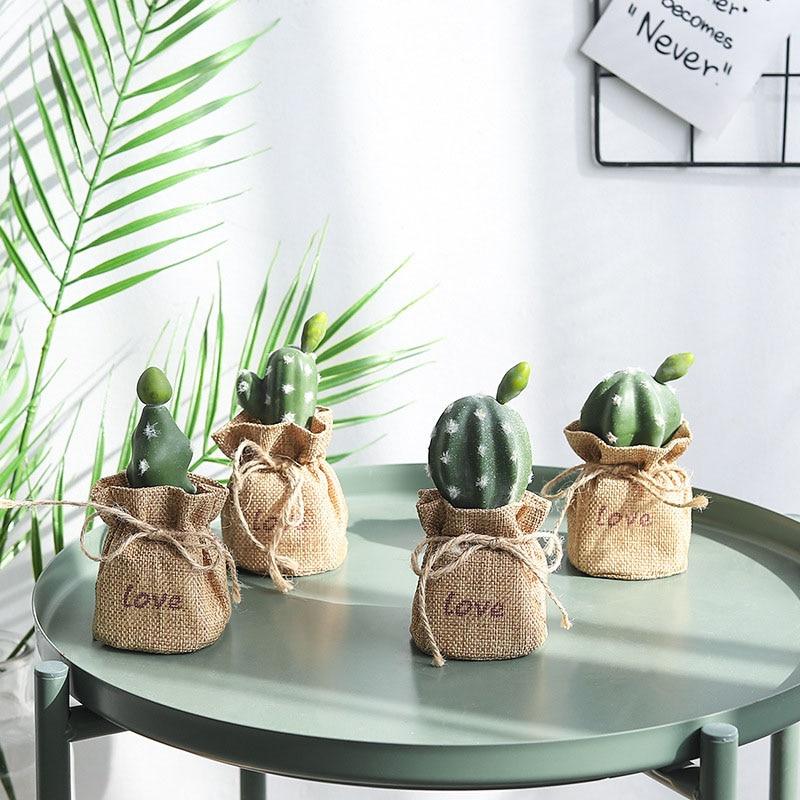 Artificial Flowers Cute Mini Cactus Bonsai Attractive Home Garden Wedding Decoration Plants Multifarious Ornamental Fake