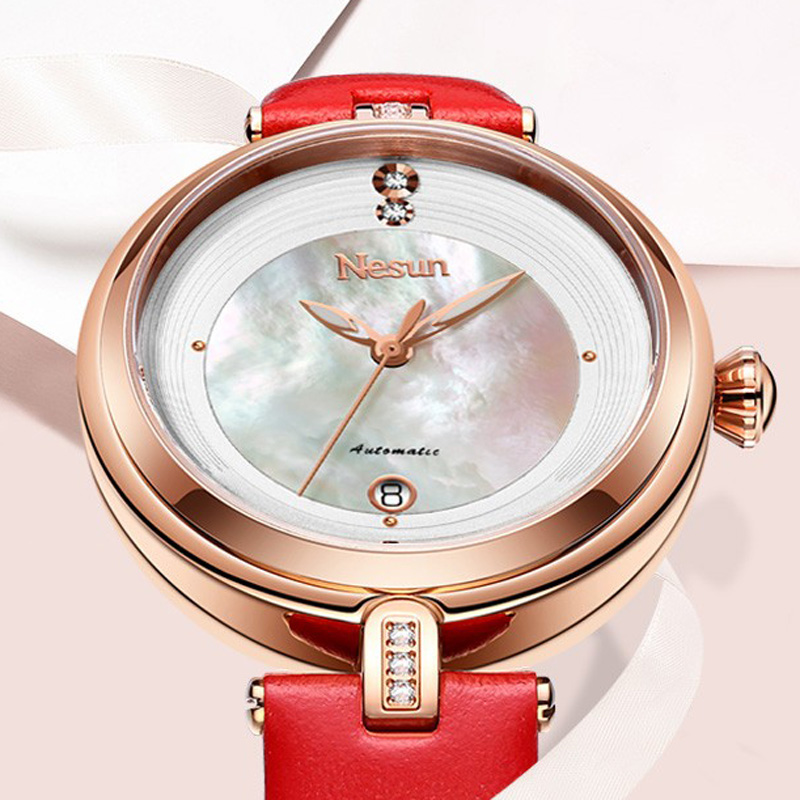 Nesun Womens Watches Luxury Brand Clock Japan Automatic Mechanical Watches Waterproof Genuine Leather relogio feminino N9066-2Nesun Womens Watches Luxury Brand Clock Japan Automatic Mechanical Watches Waterproof Genuine Leather relogio feminino N9066-2