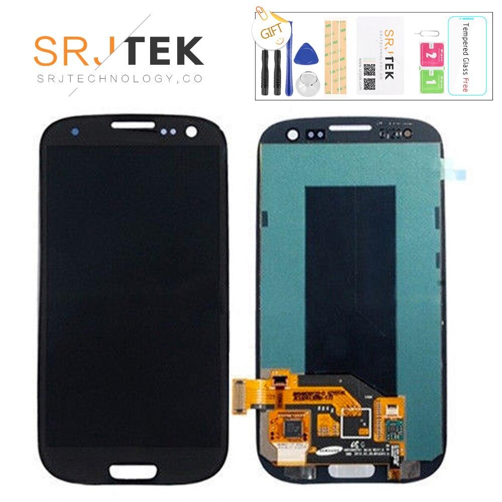 Для samsung Galaxy S III S3 i9300 i9300i i9301 i9301i i9305 Super AMOLED ЖК-дисплей Дисплей Сенсорный экран планшета Ассамблеи Стикеры