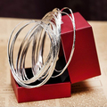 10Pcs/Set Women's Fashion Etched Dimpled Circle Bangles Bracelets Jewelry Gift