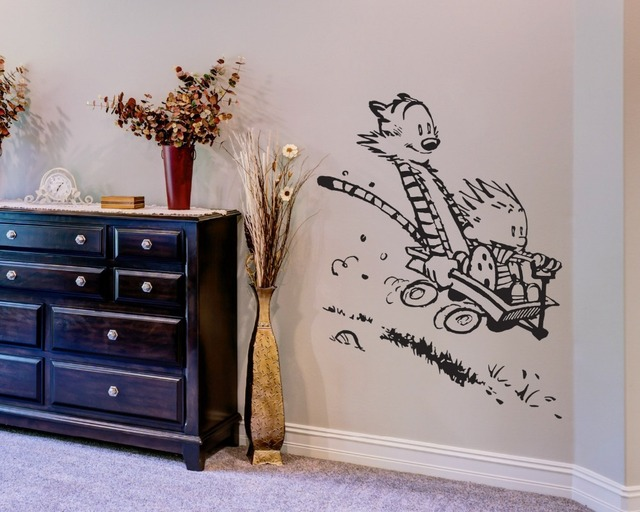 Wall Decal Vinyl Sticker Calvin and Hobbes Home House Living Room