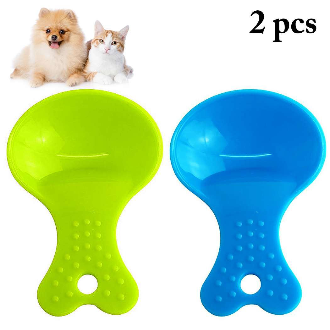 2PCS Pet Food Scoop Environmentally Friendly And Durable Plastic Creative Assorted Dog Cat Food Spoon Pet Feeding Supplies