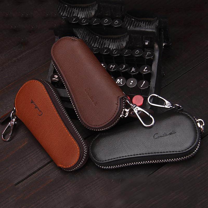 governanta carteiras caso chave carteira Material Principal : Couro Genuíno