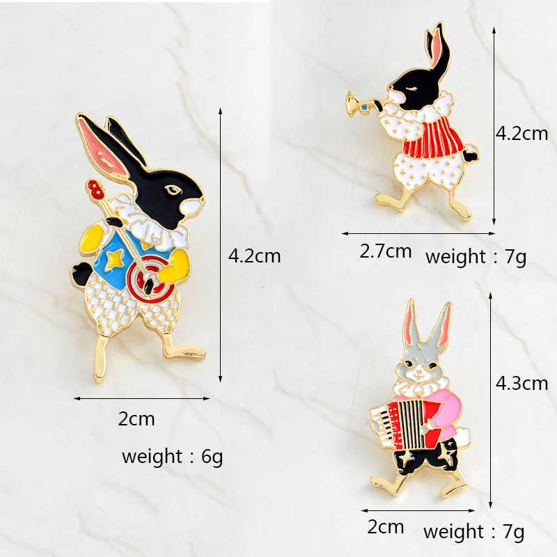 Mr and Miss Cat, кролик, лиса, эмалированные булавки, броши в виде животных, пряжка, инструмент игрока, Банни, значки, ювелирный подарок для возлюбленных пар