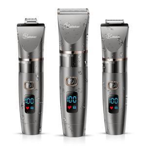 Image 1 - HATTEKER 3in1 profesyonel saç kesme makinesi su geçirmez saç giyotin erkekler tımar kiti seramik bıçak erkek LED ekran saç kesimi makinesi