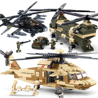City Military Series Plane Army SWAT Hawk Rescue Helicopter Set Gunship Legoing Building Blocks Brick Kid Toys Technic Gift