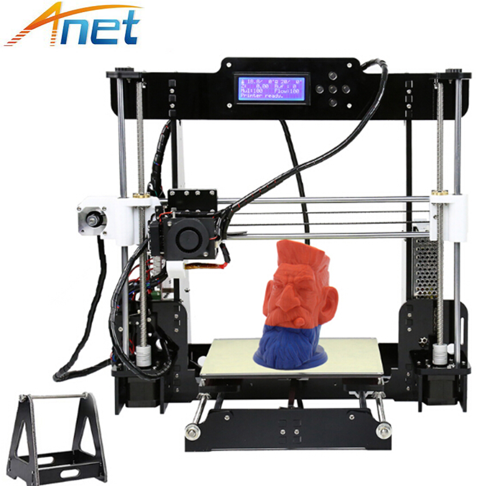 Anet Auto Level&Normal A8 Reprap Prusa I3 DIY 3D Printer Kit High-precision Three-dimensional 3D Printing LCD Screen 8G SD Card anet a8 high precision 3d printer reprap prusa i3 precision with 2 rolls kit diy easy assemble filament 8gb sd card lcd screen