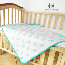 2017 New Miracle Baby four Layers Waterproof Reusable Crawling Mattress Mat Diapers Durable Nappy Change Washable Changing Pad