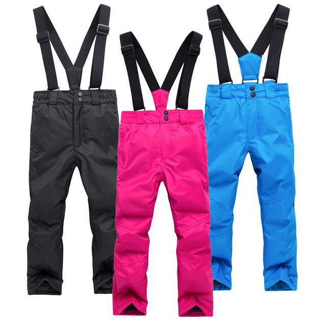 f91a72be7 kids boy girl skiing snow pants winter clothing waterproof windproof ...